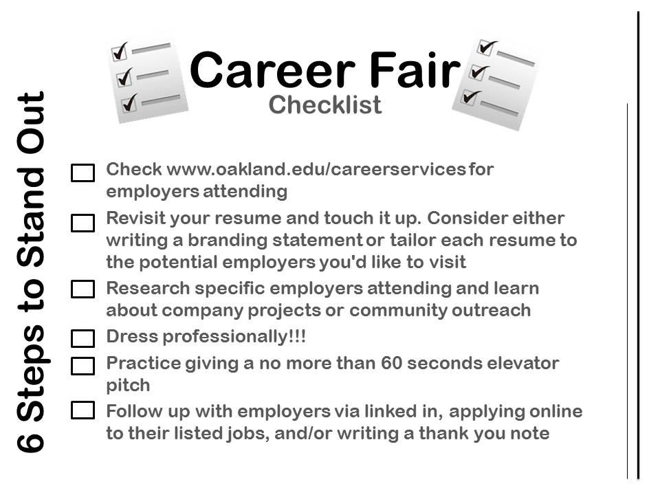 resume oakland university career services page 3