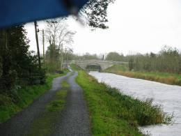 The end of this section comes into view... Lyneen Bridge would be my shelter from the worst of the rain.
