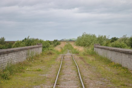 A view to the north... follow the tracks to infinity... no, I think that bit of a hill may be called Cherry Hill...