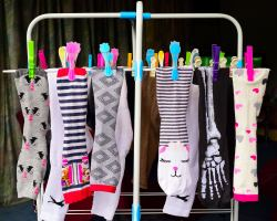 Spare a thought for the sock monster who doesn't spare a thought for us!