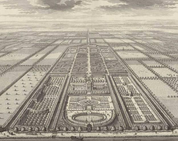 Overzichtsfoto van de tuinen van Heemstede
