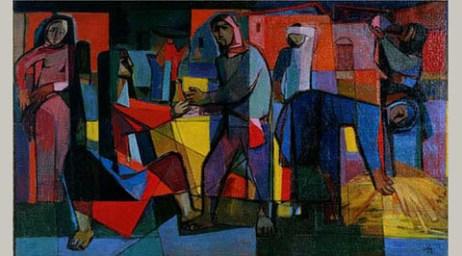 Faiq Hassan, At the Market, 1958
