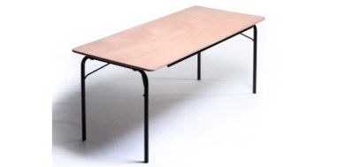 Table plateau contreplaqué pieds pliants