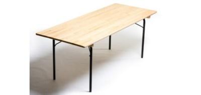 Table plateau pin pieds pliants