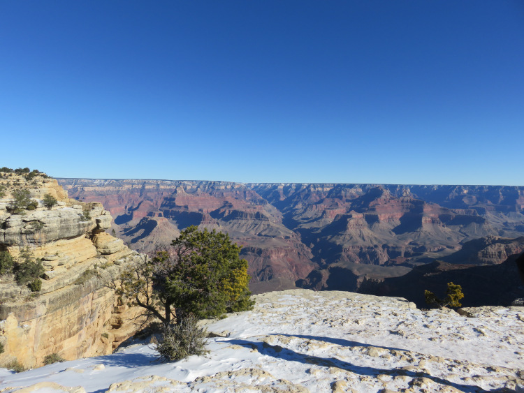 Le grand Canyon en neige