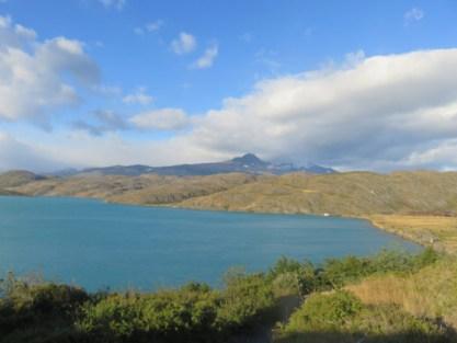 Vue depuis le camping Paine Grande Torres del Paine Patagonie Chili
