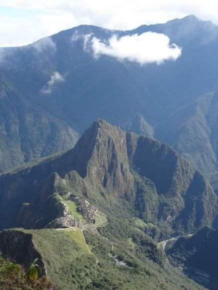 Vue du Machu Picchu depuis la Montagne
