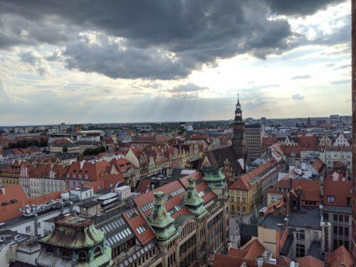 Vue sur Worclaw Pologne