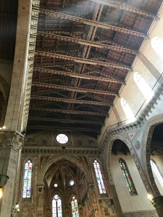 wooden ceiling of the Basilica of Santa Croce