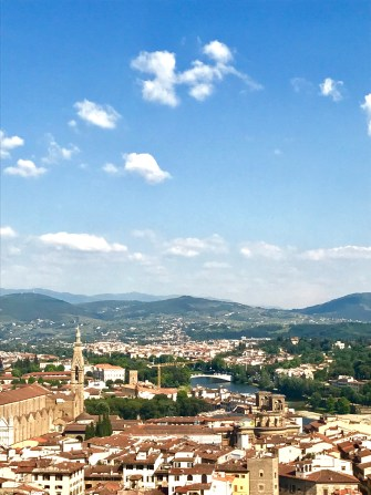 View of Florence skyline with mountains