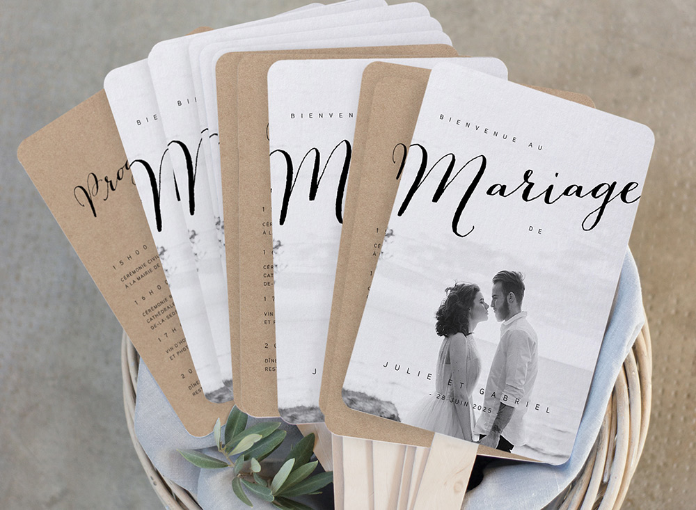 Les livrets de cérémonie feront un merveilleux souvenir du mariage.