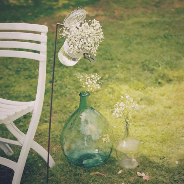 Vase Dame Jeanne en location pour cérémonie de mariage