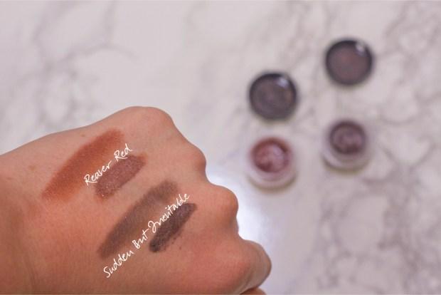 Espionage Cosmetics Eyeshadow Swatches