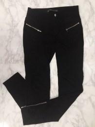 Zara Black Zip Leggings