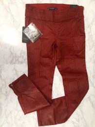 Zara Red Coated Biker Jeans