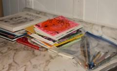 Chris's studio books