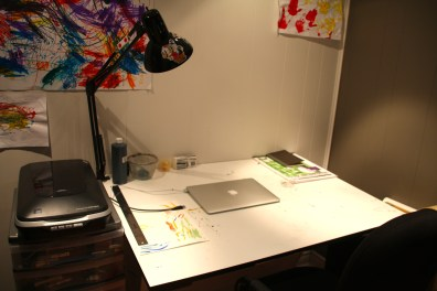 Chris's studio workdesk