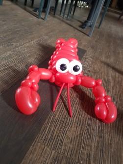 Bunch of sea creature balloon table centerpiece balloon sculpture lobster Balloon Sculpture table centerpiece decoration singapore
