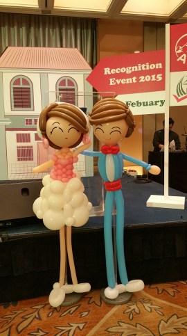 Retro balloon wedding couple (3)