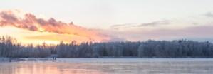 Talvinen maisema Oulujoen suistosta
