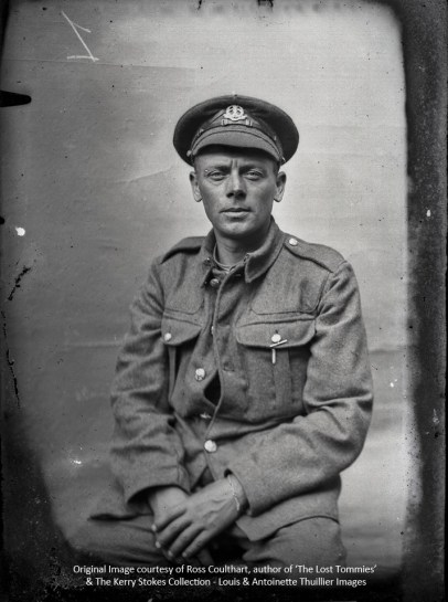 A soldier from the Middlesex Regiment