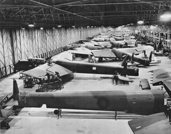 P127, Whitley Bombers at Armstrong Whitworth Factory