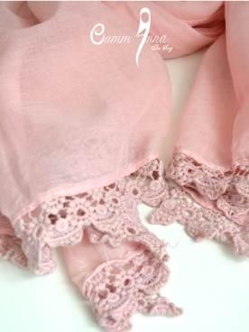 Maxi Hijab Zara Rose - dentelle