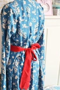 Frugi Cornish Butterflies Long sleeve tie Dress