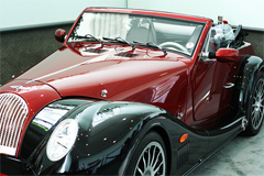 Classic red Morgan car