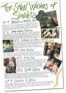 Poster of the Seven Wonders of Slovakia