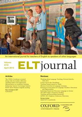 ELT Journal April 2013 cover