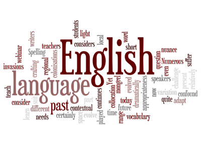 Which Engliah word cloud