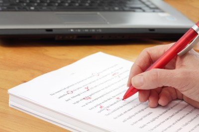 proofreading for English language students in EAP