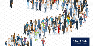 Animation of a crowd of people in the shape of a question mark