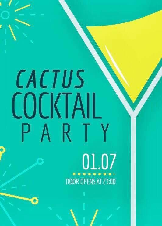 Cocktail party στο Cactus bar στην Καστοριά, το Σάββατο 1 Ιουλίου