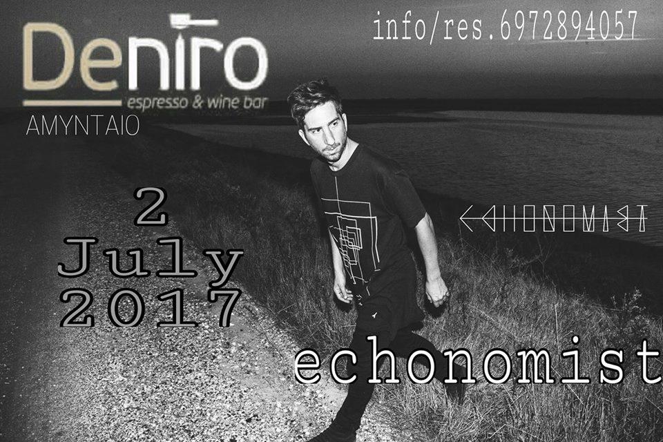 Echonomist @ Deniro bar στο Αμύνταιο, την Κυριακή 2 Ιουλίου