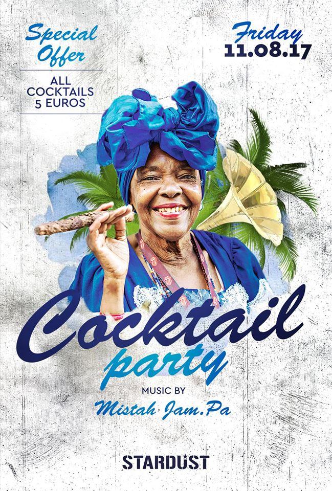 Cοcktail party στο Stardust bar στην Καστοριά, την Παρασκευή 11 Αυγούστου .