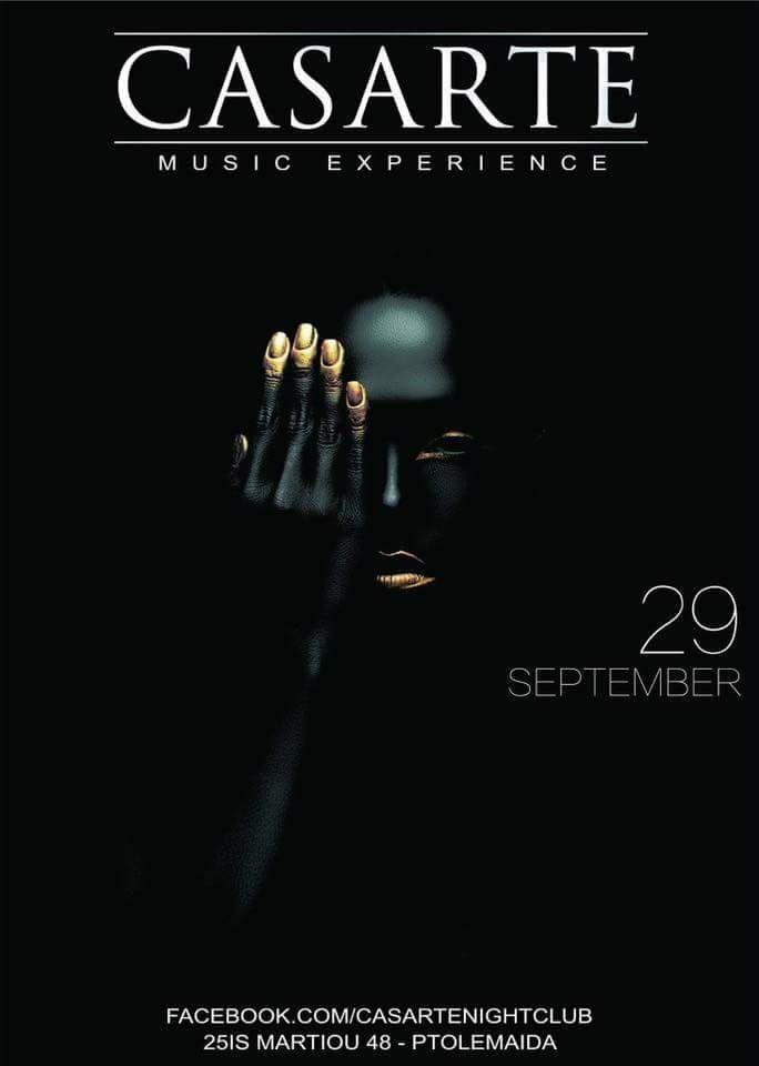 Opening για το Casarte club στην Πτολεμαΐδα, την Παρασκευή 29 Σεπτεμβρίου