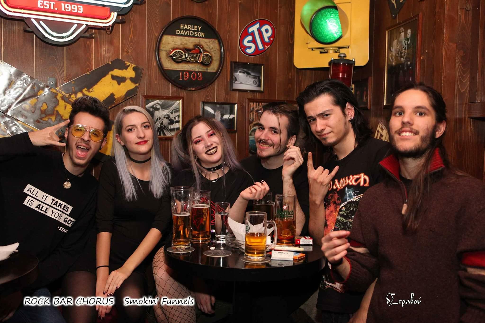 Με τους Smokin' Funnels διασκέδασαν το βράδυ, της Παρασκευής 15 Δεκεμβρίου, στο Chorus Rock Bar στην Κοζάνη