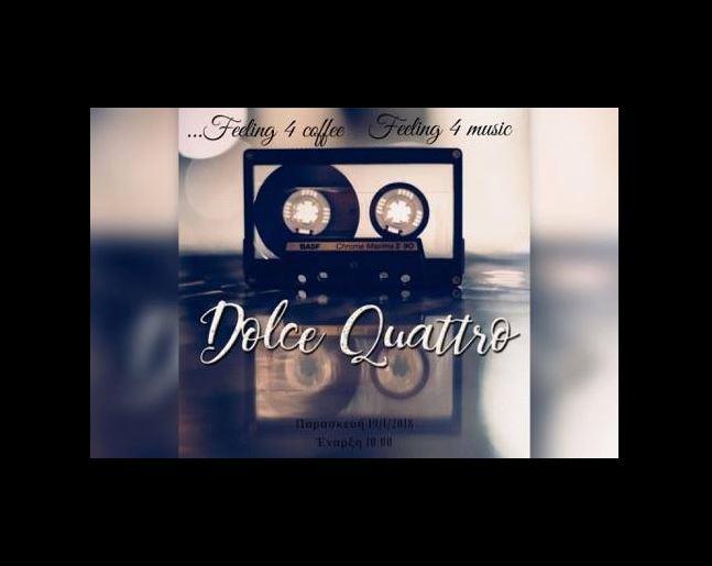 Ζωντανή μουσική με τους Dolce Quattro  στο 4Coffee bar στην Κοζάνη, την Παρασκευή 19 Ιανουαρίου