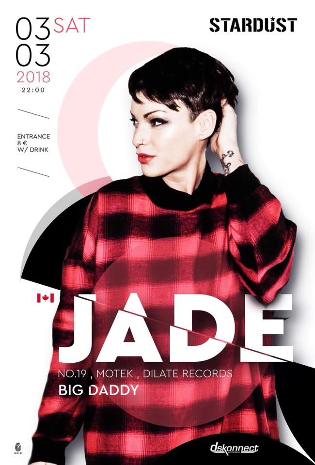 JADE @ Stardust All Day Bar στην Καστοριά, το Σάββατο 3 Μαρτίου