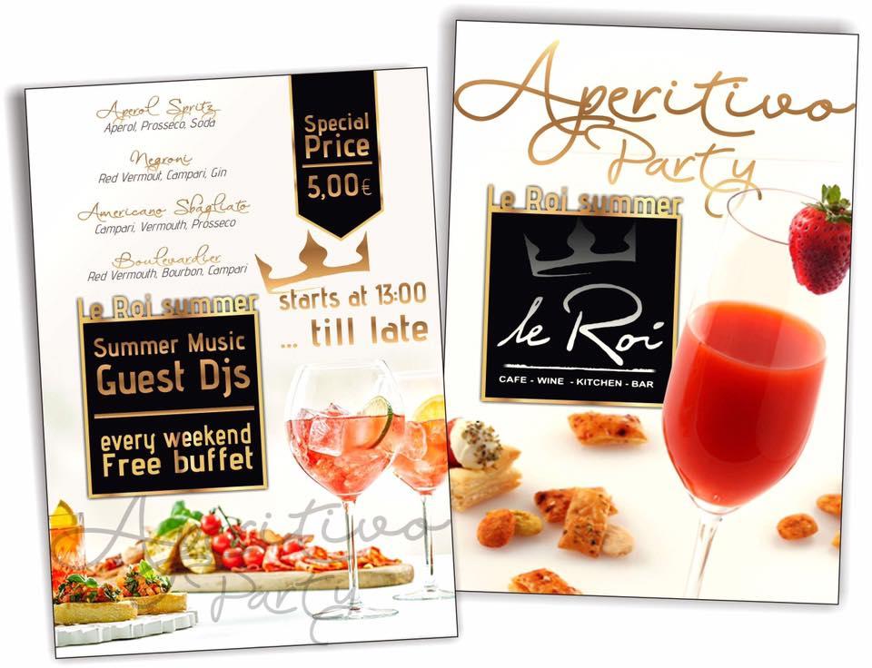 Aperitivo party by Le Roi bar στην Κοζάνη, το Σάββατο 7 Ιουλίου και την Κυριακή 8 Ιουλίου