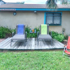 Our Beach Bungalow deck