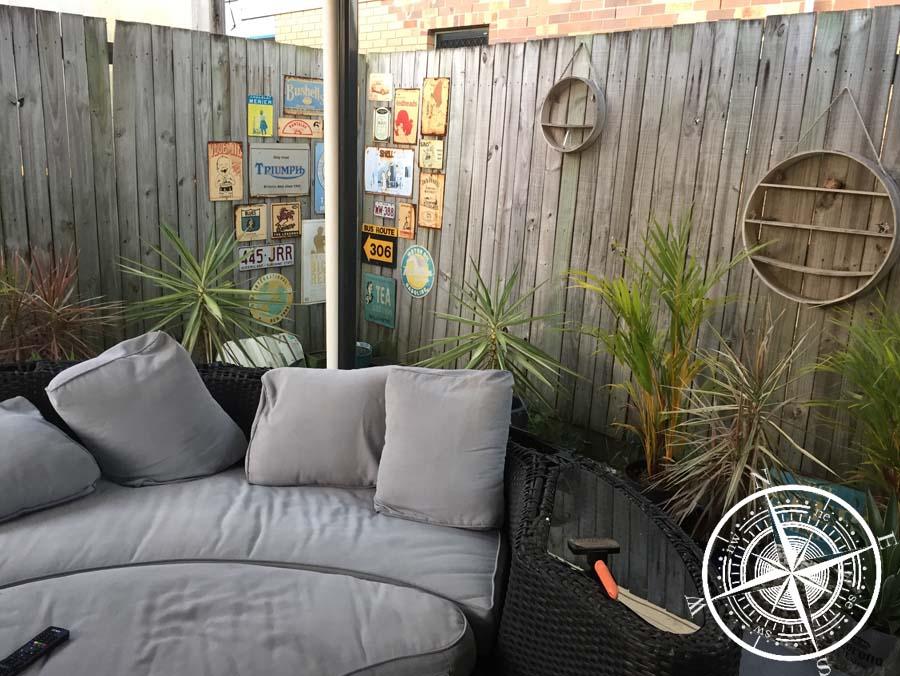 Der Gartenbereich unserer Unterkunft