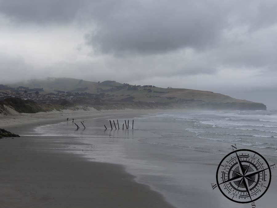 "Blick vom Strand zur ""Peninsula"""
