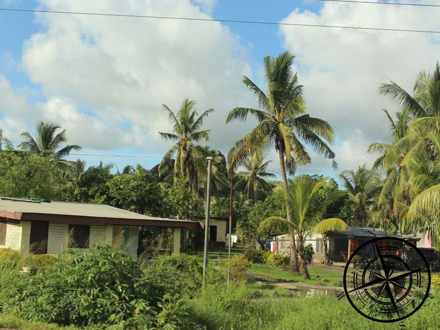 Einige Häuser bei der Fahrt