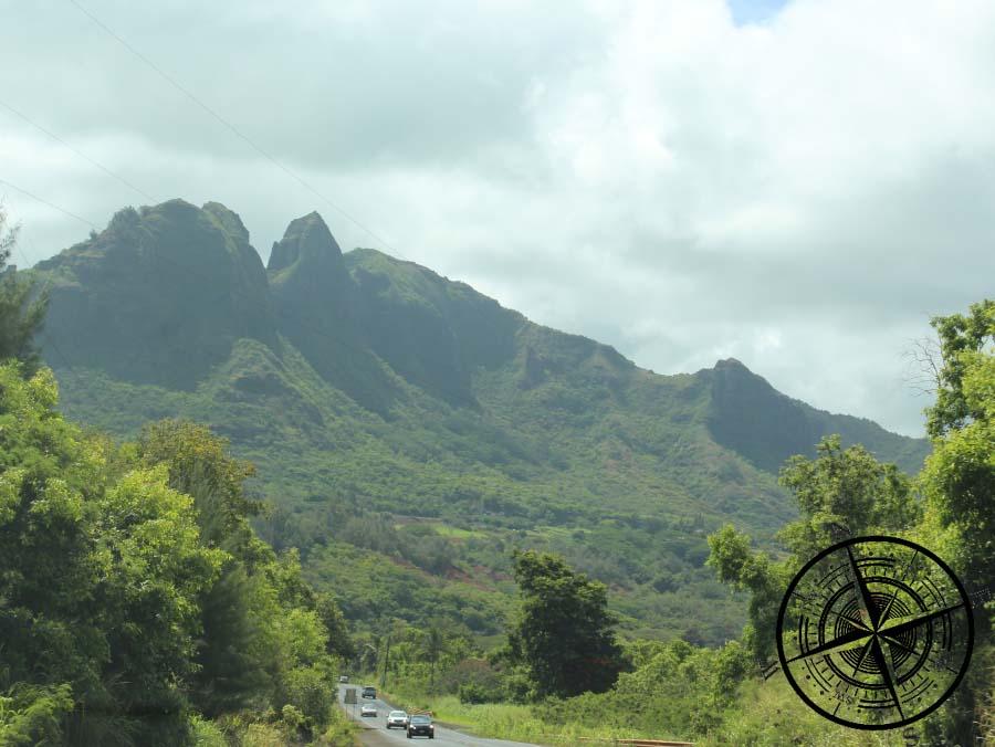 Der Ausblick auf die Berge von Kauai
