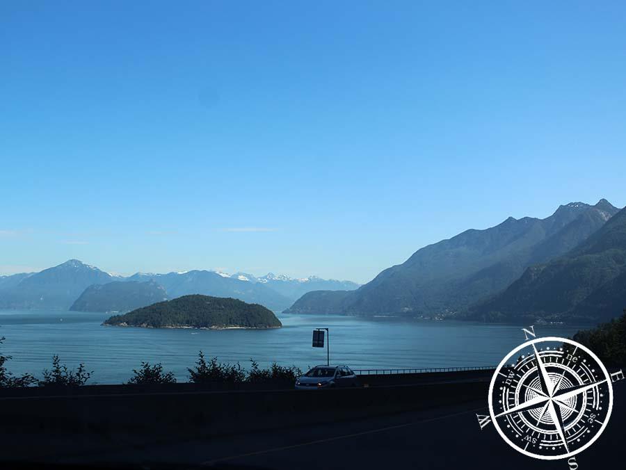 """""""Sea to Sky Highway"""" (bei der Hinfahrt nach Whistler)"""