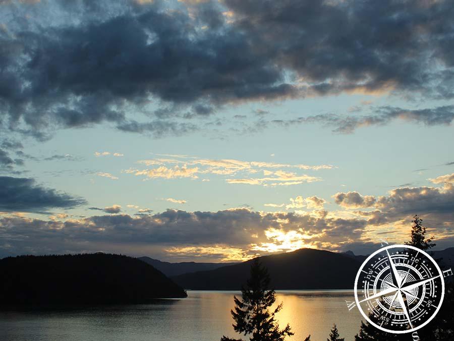 Rückfahrt mit tollem Sonnenuntergang.