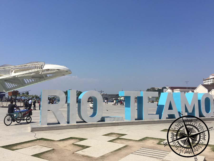 Der Schriftzug von Rio musste auch noch fotografiert werden.
